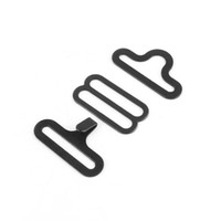 Wholesale Hardware Hooks - 50 sets Bow Tie Hardware Necktie Hook Bow Tie Cravat Clips Fasteners to Make Adjustable Straps on Bow Tie 18mm A