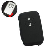 Wholesale Toyota Highlander Remote Case - silicone key fob case cover Shell holder for TOYOTA RAV4 Land Cruiser Camry Highlander Prado Prius Keyless Remote two 2 buttons