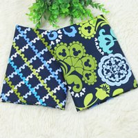 Wholesale Doll For Sewing - VB fabric 100% Cotton Plain Fabric for Dres Doll Cloth Handmade Diy Patchwork, navy bottom with cartoon floral CR-536
