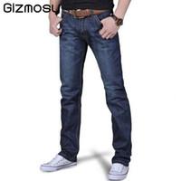 Wholesale Cheap Men Clothes Plus Sizes - Wholesale- 1 Pcs Jeans For Men Cheap Jeans China Straigh Regular Fit Denim Jeans Pants Classic Blue Color Brand Clothes Size 28 To 38 BN402