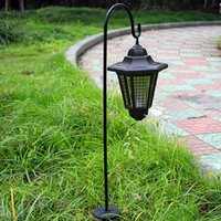 Wholesale outdoor garden solar plug resale online - LED Solar Garden Plug Mosquitoes Lights cm Purple Color Outdoor Waterproof Power Lamps Home Lighting Flying insect Out from Yard Park