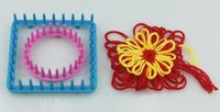 hobi hediyeleri toptan satış-Ev Bahçe El Sanatları Hediyeler 9 Adet Örgü Tezgah Çiçek Papatya Desen Makinesi Yün İplik Iğne Örgü Hobi Tezgah Örgü Makinesi Dikiş Araçları