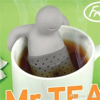 Wholesale Tea Infuser Unique - Mr.Tea Infuser Strainers Filter Unique Cute Tea Strainer, Interesting Life Partner Cute Mr Teapot Silicone Tea Infuser Filter Teapot Drinkw