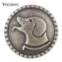 VOCHENG NOOSA Ginger Snap Jóias Antique Bronze Dog Snap Encantos Animal 18mm Vn-1746