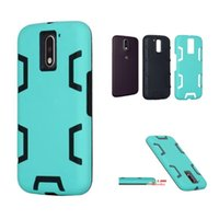 Wholesale Blu Cover Case - Dual Layers Robot Case For iPhone 7 Plus MOTO G4 BLU R1HD Silicone Combo Hybrid Back Cover Defender Armor Phone Cases OPP BAG