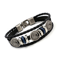 Wholesale Personalized Leather Jewelry For Men - Eagle Leather bracelets for men and women wild personality Fashion vintage personalized Charm Bracelets jewelry gifts