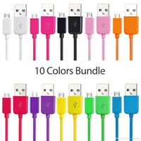 Wholesale Chinese S4 Android - 5000pcs lot 1m 3ft colorful micro 5pin usb data sync charger cable for samsung s3 s4 s6 android phone