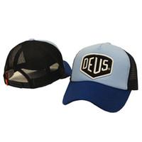 kamalı kamyon şapka kadınlar toptan satış-Toptan-2016 Marka Yeni Deus Ex Machina Baylands Trucker Snapback Erkekler Kadınlar Bboy Kız Örgü Spor Şapka Hiphop Tanrı Dua Kap Siyah