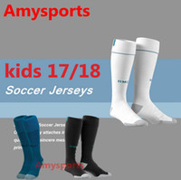 Wholesale Wholesale Real Madrid - 2017 2018 kids Socks Real madrid soccer Sports Socks youth boy RONALDO white Black JAMES BALE RAMOS ISCO MODRIC football Socks