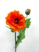 искусственные цветы оптовых-Высокий искусственный цветок пластиковые искусственный цветок искусственный шелк цветок украшения дома маки на обоих концах