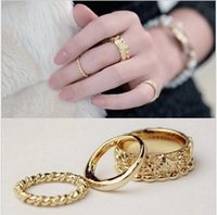 Wholesale Eun Hye - Wholesale- Tomtosh 2016 New 3pcs.   Set. Yoon Eun Hye same paragraph you want a combination of three rings embossed roses   lot Triple