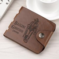 Wholesale Spandex Black Shorts Wholesale - 8 Style Brand new Mens High Quality Leather Wallet Pockets Card Clutch Cente Bifold Purse Coin Holder For Men