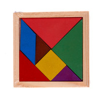 Wholesale Wood Toy Patterns - Wholesale-Colorful Wooden Jigsaw Puzzle Toy Tangram Brain Teaser Geometry Pattern Puzzle Educational Developmental Kids Toy K5BO