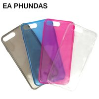 Wholesale Candy Color Silicone Iphone - EA PHUNDAS Fundas case conque for iphone 7 Candy jelly color silicone TPU soft rubber new item cover for iphone 7plus capas for free shippin
