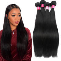 Wholesale best quality hair dye resale online - Best Quality Brazilian Virgin Hair Straight natural Color Unprocessed Human Hair Bundles Can Be Dyed Inch No Tangle