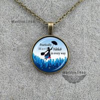 Wholesale Pictures Mary - Wholesale-MAZZ-0355 Fantasy girl necklace mary poppins picture necklace handmade jewelry