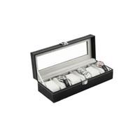 Wholesale Jewelry Organizer Sale - 2016 Hot Sale 6 Grid Luxury Refinement Slots Wrist Watches Gift Case Jewelry Display Boxes Storage Holder Organizer Quality PU
