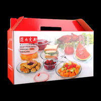 Wholesale White Bakeware - 9pcs Toughened Glass Tableware Food Container Fresh-keeping box Plate Bowl bakeware Glass pot Measuring Cup Microwave Oven Special