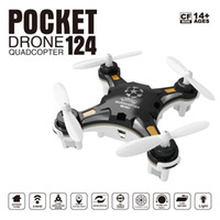 Wholesale rc helicopter micro - usable FQ777-124 Mini Drone Micro Pocket 4CH 6Axis Gyro Switchable Controller RC Helicopter Kids Toys VS JJRC H37 H31 Quadcopter