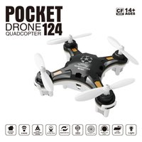 usable FQ777-124 Mini Drone Micro Pocket 4CH 6Axis Gyro Switchable Controller RC Вертолет Детские игрушки VS JJRC H37 H31 Quadcopter