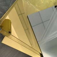 Wholesale Plexiglass Can - Plastic Acrylic Plexiglass Square Gold Mirrors Diameter 200x300mm Thickness 3mm Not Easy To Broken Can Cutting In To Any Size
