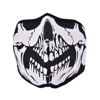máscara de esqui de neoprene de rosto cheio venda por atacado-Atacado-Outdoor Ciclismo Moto Dente Neoprene Fantasma Crânio Balaclava Máscara Máscara Chapelaria Ciclismo Ski Outdoor Half / Full Máscaras