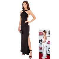 2017 Новый Sexy Sheer Back Red / Black Side Split Plus Размер без рукавов Maxi Casual Dress Item NO H00002