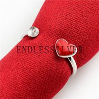 Red Heart Ring Configurações Base em branco 925 Sterling Silver DIY Jewellery Encontrando montagens para Pearl Party