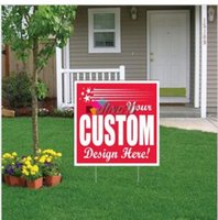 Wholesale Lawn Signs - Factory direct hot sale competitive price best quality custom durable lightweight recyclable pp plastic advertising lawn yard signs board