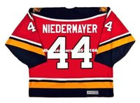 Personalizzato Throwback Mens ROB NIEDERMAYER Florida Panthers 1996 CCM Vintage Throwback Cheap Retro Hockey Jersey