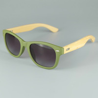 Wholesale Wood Sunglasses Wholesale - LOGO Engraved Available Wood Sunglasses Designer Natural Bamboo Sunglass Eyewear Glasses Style Hand Made Wooden Temple Plastic Frame 8 Color