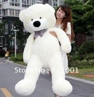 Wholesale Wholesale Lover Pillows - Wholesale- On Sale!!! Teddy bear cuddly toy large hold pillow doll embrace bear doll plush bear doll lovers gifts Large size 120cm