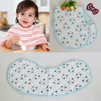 Wholesale Aden Anais Gauze - Wholesale- Free Shipping Regurgitate Milk Towel For 0-5years Baby Thickening Aden Anais 100%Cotton Four Layers Baby Gauze Bib Shoulder Pad
