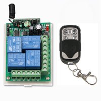 Wholesale Metal Frame Systems - DC 12V 24V 4 CH 4CH RF Wireless Remote Control Switch System, ( 1 Metal Frame Transmitter + Receiver),315   433.92 Momentary
