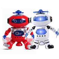 Wholesale White Robot Toy - Smart Space Robot Astronaut Electronic Dancing Music Robot Colorful Flashing Light Fun Toys For Kids ,Boys,Girls