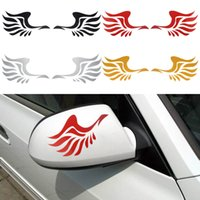 Wholesale New Side Mirror For Car - new car sticker wings Design 3D Decoration Sticker For Car Side Mirror Rearview