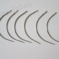 Wholesale type needles for sale - Group buy big length cm long C type curved needles for hair weft hair weaving needles weave machine sewing needle