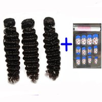 Wholesale Get Samples - Brazilian Cambodian Chinese Virgin Hair Weave Wavy Deep Wave Virgin Human Hair Weft Extension Dyeable buy a lot get free samples Quercy Hair