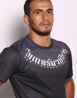 Wholesale Long Sleeve Tattoo Tops - L XL XXL mma fight tops man t-shirt Tiger Muay Thai Sak-Yant Tattoo Free shipping