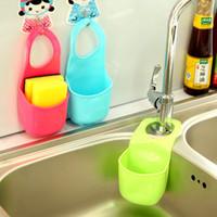 fregadero del baño organizador al por mayor-Hot Creative Kitchen Sink Bathroom Hanging Strainer Organizador de Esponja de Almacenamiento Bolsa de Herramientas # 71178