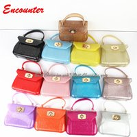 Encounter Children's Fashion Jelly handbags Kids Brand new Totes Preschool girls Classic Shoulder Bags Toddlers candy colors totes bag EN025
