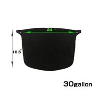 Wholesale Black Tubs - 30 Gallon Black Grow Pots With Handles Grow Tub Raised Bed GROWBAG Bring The Garden Closer To You