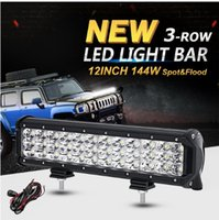 12inch 144W 3-Reihe CREE Chips LED Licht Bar Offroad Combo Beam Led Arbeit Leicht LKW SUV ATV 4x4 4WD 12v 24v Fahrlampe