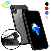 Wholesale Hard Back Tpu Iphone - 2018 Full Protective Case for iPhone X iPhone 8 8plus TPU & PC Hard Clear Slim Back Cover for Apple iPhone X Case iPhoneX