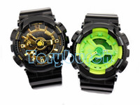 Wholesale Men Black Yellow Watch - 1pcs top relogio G110 men's sports watches, LED chronograph wristwatch, military watch, digital watch, good gift for men & boy, dropship