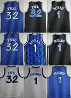 Throwback Basketball Jerseys Retro 1 Tracy McGrady 32 Shaquille O'Neal 1 Penny Hardaway Camisas Stitched Basketball Jersey Cheap Mens