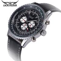 Wholesale Business Week - 2017 JARAGAR Relogio Masculino Big Dial Men 6 Hands Auto Mechanical Watches Day 24Hours Week Men's Watch Free Shipping
