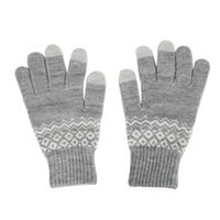 Atacado Unisex Mulheres Homens Inverno Outono Quente Soft Knit luvas para telefone Tablet Touch Screen Driving Gloves