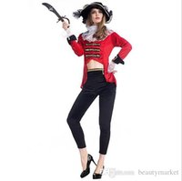 Wholesale Woman S Pirate Costumes - Hot Sexy Women Pirate Cosplay Party Game Costumes Adult Cosplay Halloween Women Sexy Night Club Wear Pirate Costumes PSA2879