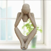 Wholesale Abstract Home Crafts - Home Decor Ideas Nature Sandstone Abstract Character Resin Hand Carved Figurine Gift Craft Creative Wedding Wedding Decorations 12*10*24Cm